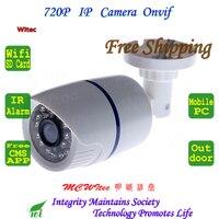 Built In WIFI 720P IR Security Bullet ONVIF Waterproof Night Vision P2P IP Cam IR Cut