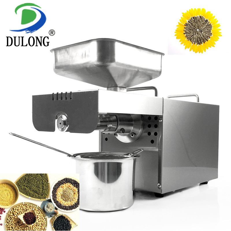 Automatic mustard oil machine small coconut oil extraction machine palm oil processing machine essential oil press machine 110 240v commercial small oil press machine peanut sesame cold press oil machine high oil extraction rate cheap price