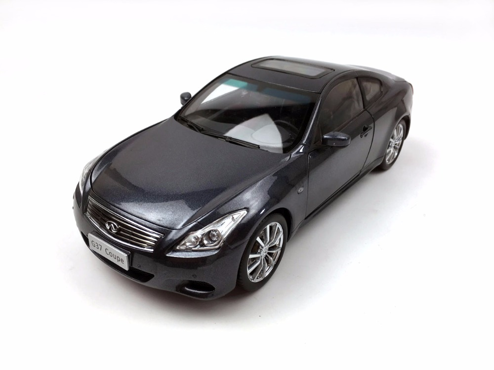 1:18 Diecast Model for Infiniti G37 2013 Gray Coupe Alloy Toy Car Miniature Collection Gift rare gray 1 18 autoart aa maybach 57 swb diecast model car luxury collection limitied edition