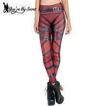 [You're My Secret] Leggins Women Leggings Comic Bandage Bottoms Slim High Waist Spendex Winter Legging Femme Mujer Fitness Pants