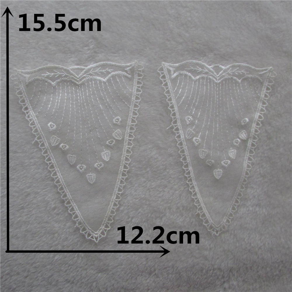craft fashion style 1pc Lace Collar Off White Beautiful Flower and Heart Venise Lace Applique Trim, Lace Fabric Sewing Supplies