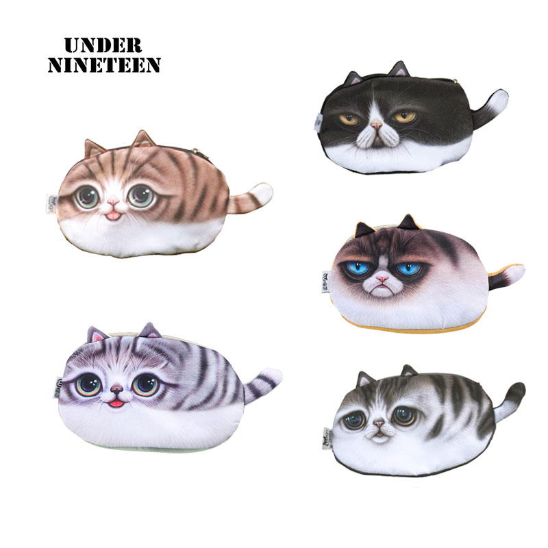 Under Nineteen 2017 Cute Cat Cosmetic Bags Travel Makeup Organizer Pouch Neceser Toiletry Washing Bag Wholesale Custom Bag Gifts unicorn 3d printing fashion makeup bag maleta de maquiagem cosmetic bag necessaire bags organizer party neceser maquillaje