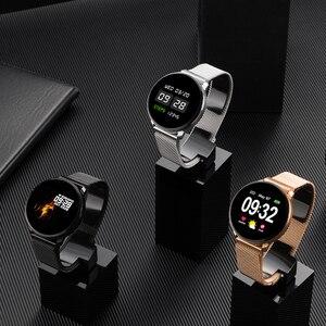 Image 4 - หน้าจอสัมผัสเต็มรูปแบบ สมาร์ทนาฬิกาสร้อยข้อมือฟิตเนส อัตราการเต้นของหัวใจ ความดันโลหิต ติดตาม ผู้ชายผู้หญิงนาฬิกาข้อมือสำหรับ Android iOS Xiaomi