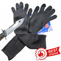 NMSAFETY Long Cut Resistant Working Gloves With Stainless Steel Wire Protective Safety Gloves Metal Tactical Butcher Steel Glove