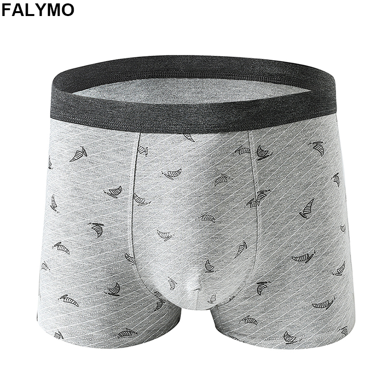 Mens Underwear Classic Boxer Shorts Male Boxershorts Cotton Printed Underpants Homme Drawers Black Navy Coffee Grey 3XL 4XL 5XL