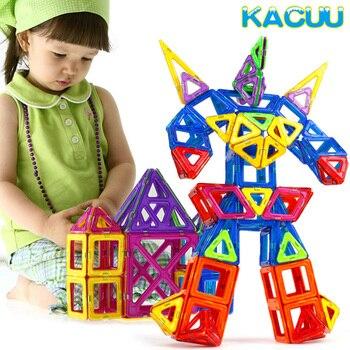108PCS BIG SIZE Magnetic Blocks Educational Construction Set Robot & Car-styling Toy ABS Magnet Designer Construction Kids Toys