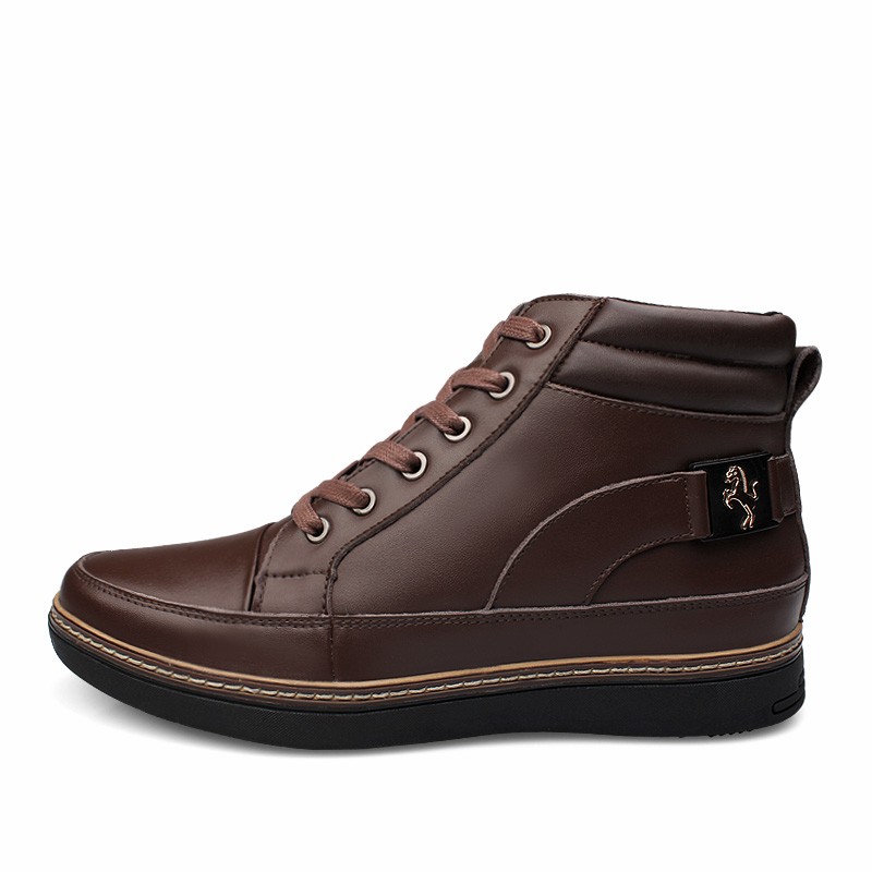 New Men Boots Hot Sales Fashion Leather Black Shoe Winter Ankle Genuine Classics Felt boots Military 2017 Tactical Cowboy felt boots