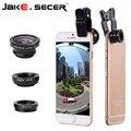 Ojo de pez Lente Ojo de Pez + Gran Angular + Macro 3 en 1 la lente de teléfono móvil para el teléfono ip6s plus 5S 4S xiaomi smartphone nuevo Universal