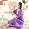 Yomrzl L953 modal camisola das mulheres novas da chegada do verão uma peça vestido longo sono princesa sleepwear