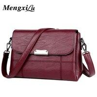 2018 Soft Crossbody Bags For Women Pu Leather Handbags Designer Women Shoulder Bags High Quality Solid