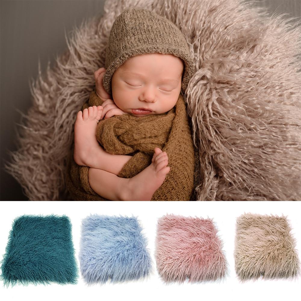 D & J de piel sintética recién nacido recién Prop, relleno de cesta, apoyos de la foto de bebé FOTOGRAFÍA telón de fondo manta infantil disparar