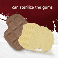 Nano Silver Baby Gutta Silicone Food Chocolate Shape Baby Toys Baby Dental Care Toothbrush Training Silicone