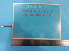wholesale NEW for ELO 10.4 inch 4 wire NTX0101-1802L 1 touch screen digitizer panel 226mm*174mm FPC:33 4006474 A