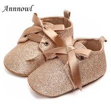 Модная брендовая обувь для маленьких девочек 1 год Мягкая Блестящая