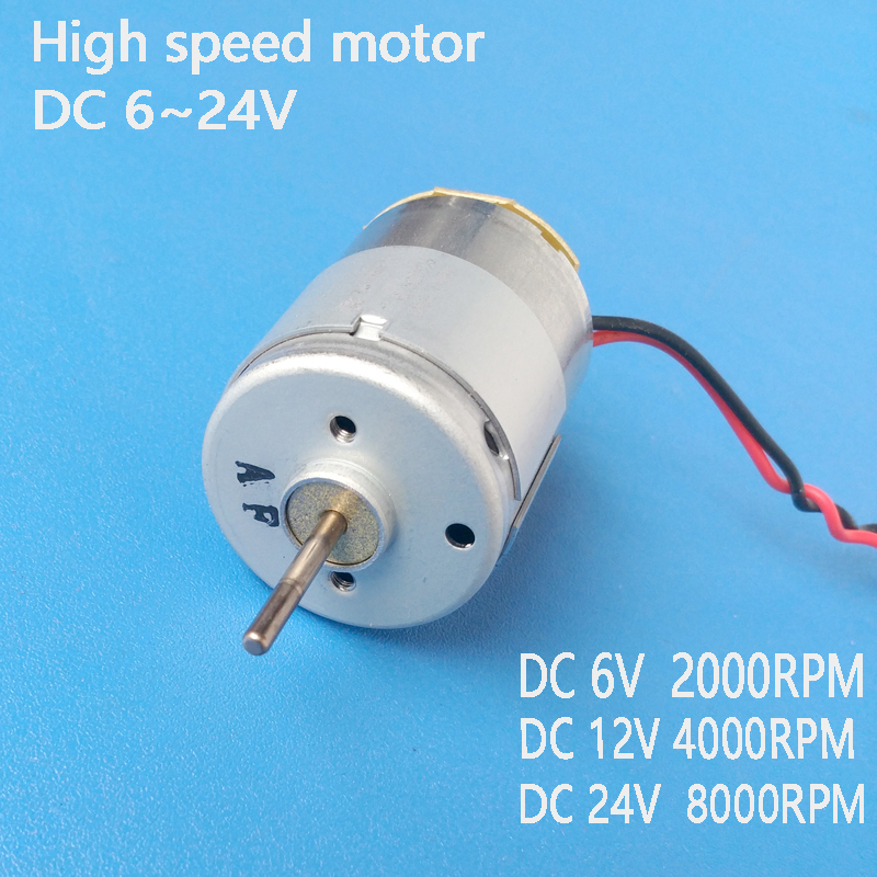 brush High torque micro DC 6V 12V 24V 2000RPM~8000RPM Motor For DIY Model airplane Four-wheel engine Scientific Experiments image