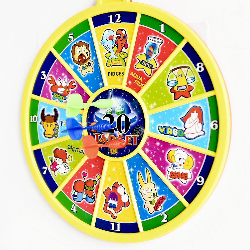 Creative Cartoon Magnetic Toys Safety Dartboard Darts Set Kids Shooting Game Indoor Games Family Gag Toy M/L Double-sided Board