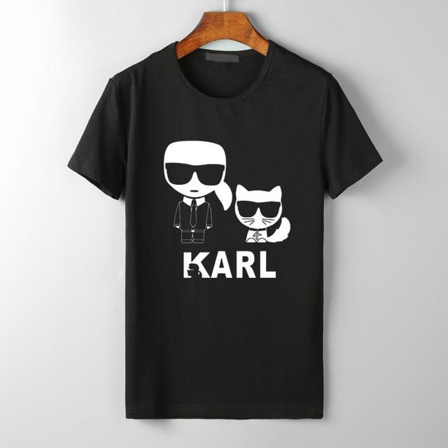 Karl Lagerfeld Футболка женская унисекс Лето 2019 Vogue короткий рукав Забавные футболки Harajuku tumblr Karl Who футболка Femme