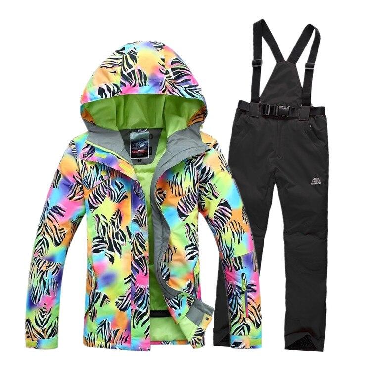 Fashion 2014 Women S Waterproof Hiking Outdoor Suit Jacket Women Snowboard Jacket Ski Suit Set Women