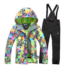 2016 Women's Waterproof Hiking Outdoor Suit Jacket Women/Snowboard Jacket Ski Suit set Women Snow Jackets Ski Clothing