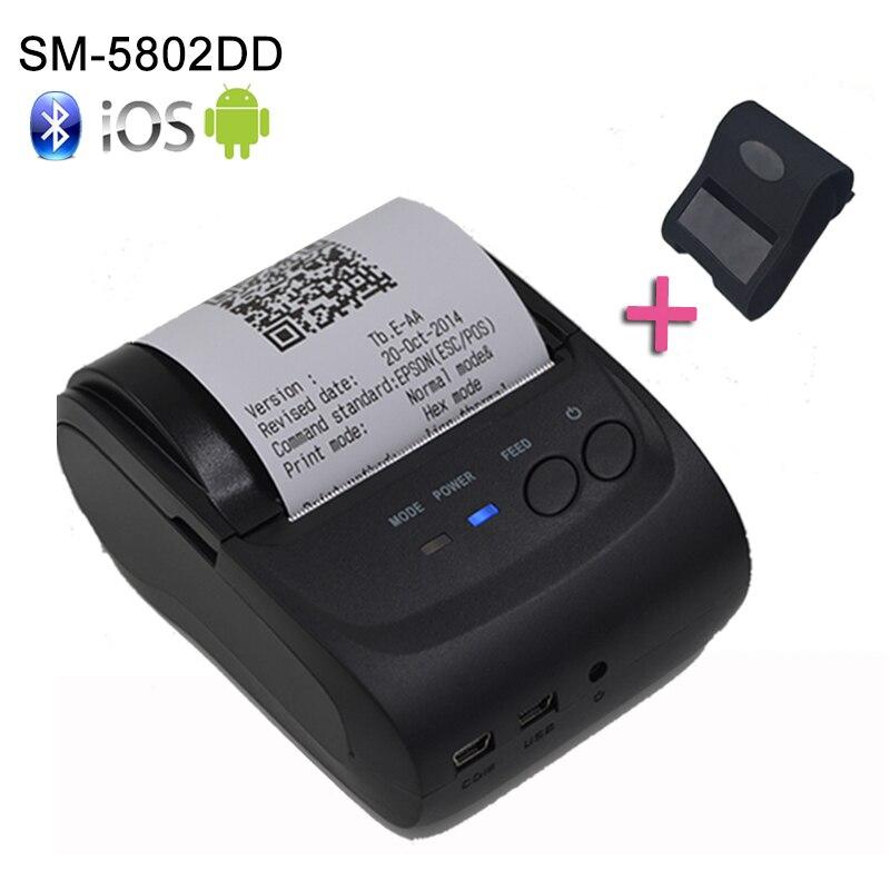 58mm přenosná Bluetooth tiskárna Adroid mobilní tiskárna Mini tiskárna zdarma s SDK + pouzdro
