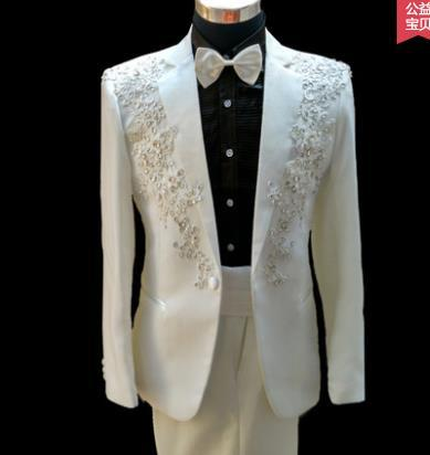 0fbc7fd438935 men blazer designs formal dress latest coat pant suit men costume homme  singer dance marriage wedding suits for men's red blue-in Suits from Men's  ...