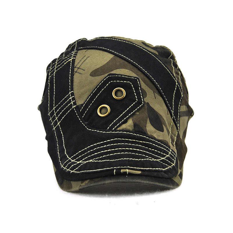 Брендовые камуфляжные Летние головные уборы для мужчин и женщин повседневные хлопоковый берет кепки Gorras Planas Boinas мужские плоские Солнцезащитные очки Регулируемые береты