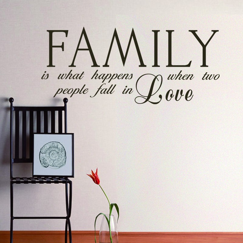 Two People Fall Love Family Wall Decal Quote Wedding Anniversary Vinyl Art Decor 46 X 20 M In Stickers From Home Garden On Aliexpress