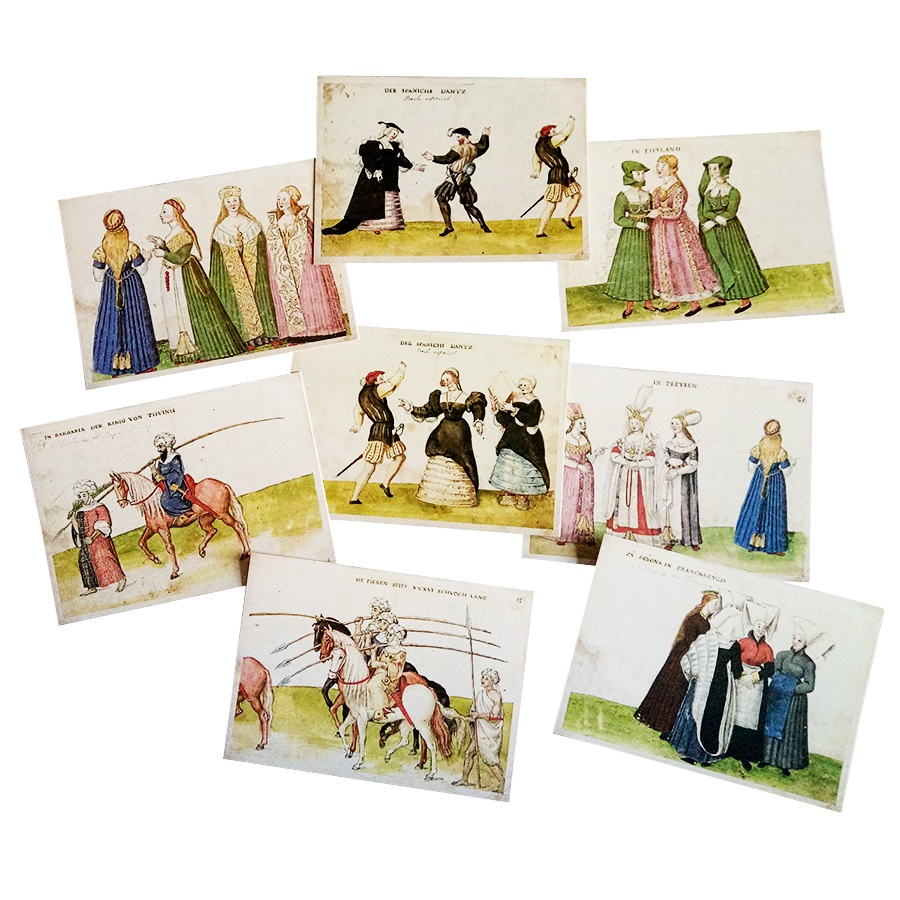 16pcs/lot Vintage Ancient Human's Life Postcard Fashion Gift Wish Card Postcard Birthday Greeting Card Classical Greeting Cards