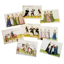 16pcs/lot Vintage Ancient Humans Life Postcard Fashion Gift Wish Card Birthday Greeting Classical Cards