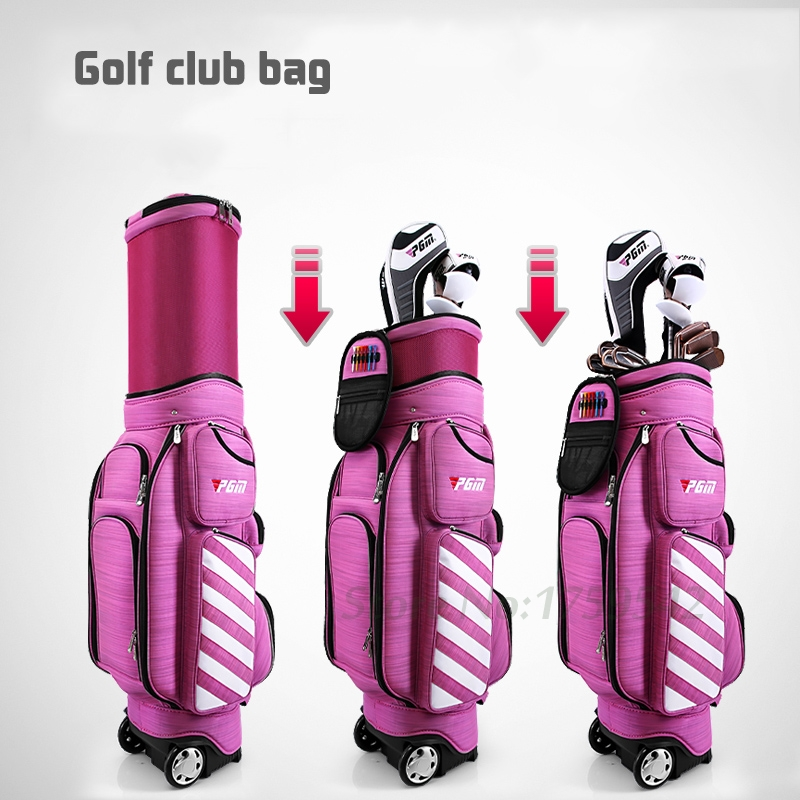 2017 Newest Women Golf Bag Air Travel Bag with Wheels Nylon Golf Standard Package for Me ...