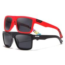 KDEAM Straight Topline Rectangle Polarized Sunglasses Men Brand's Signature Sun Glasses Sport Shades Includes Protective Case