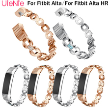 For Fitbit Alta smart watch frontier/classic inlay diamond replacement strap HR wristband accessories bracelet