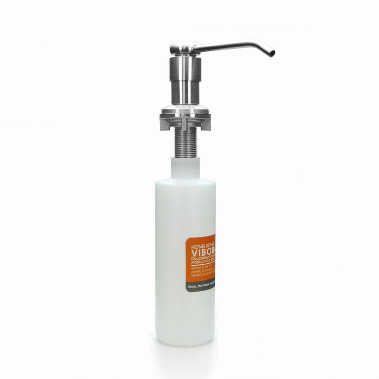 VIBORG Deluxe Solid 304 Stainless Steel Casting Kitchen Bathroom Sink Soap Dispenser Liquid Soap Dispenser, brushed cheaper stainless steel liquid soap dispenser kitchen sink soap box free shipping chrome finished