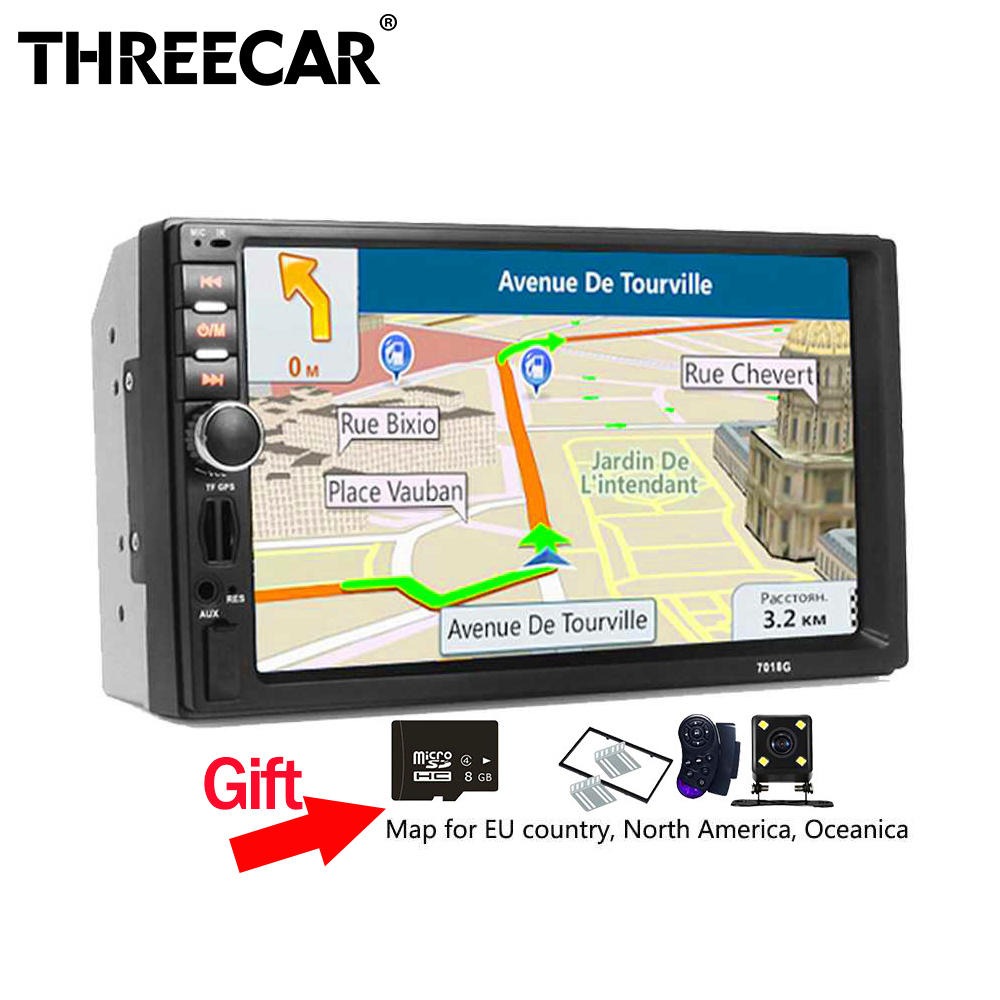 7018G GPS Navigation 2 Din Car Radio Car Mp5 Player 7