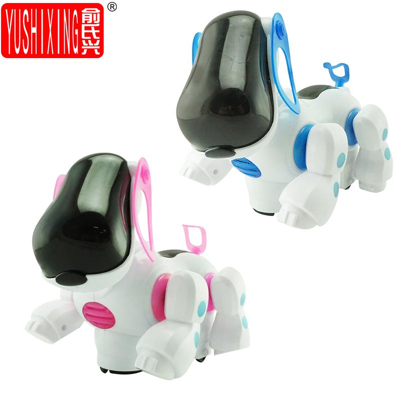 de accin de juguete robot dog cachorro mascota msica walking robot electrnico con msica y luz