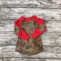 New Arrival Raglans Baby Girls Boutique Cute T Shirt Spring Kids Wear Top Cotton Milk Silk