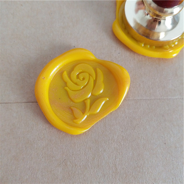 Customize brass stamp Box gift set rose flower personalized letter name/Sealing Wax/wedding Wax Seal Custom invitation stamp customize brass stamp circle box gift set personalized letter double name sealing wax wedding wax seal custom invitation stamp