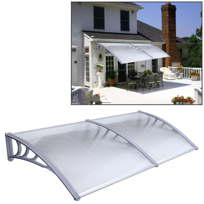 Captivating 1mx2m DIY Outdoor Polycarbonate Front Door Window Awning Patio Cover Canopy