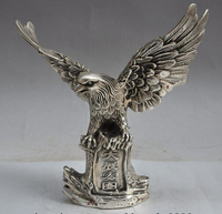 decoration bronze factory outlets Tibet Silver 9chinese fengshui silver Eagle Hawk Unfold Wing flying lucky Grand plans statue