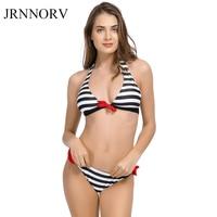 JRNNORV Sexy Bikinis Women Swimsuit Swimwear Halter Top Plaid Brazillian Bikini Set Bathing Suit Beach Wear