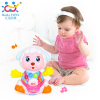 HUILE TOYS 888 Baby Toys Record and Play Interactive Electric Toy Sheep Kids Early Learning Educational Toys with Music & Lights