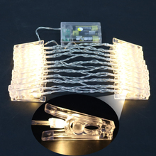 2m 20 Clip LED Photo Clips Wall Luminous (Warm White)