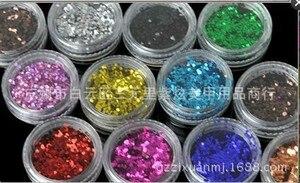 Image 3 - 72ชิ้น/ล็อตที่ขายดีที่สุดผสม72Pots GlitterผงHOLOGRAPHIC GLITTER POTSคุณภาพดีขนาดใหญ่สีเล็บหัตถกรรม