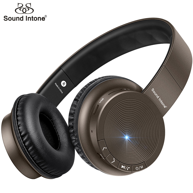 Sound Intone Bluetooth Wireless Headphones With Mic Support TF Card MP3 Player Bass Headsets For iOS Android Most Phone Computer ks 508 mp3 player stereo headset headphones w tf card slot fm black