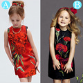 Milan Creations Princess Dresses Girls Clothes 2016 Brand Baby Girls Dress Summer Floral Pattern Kids Dresses for Girls Costumes