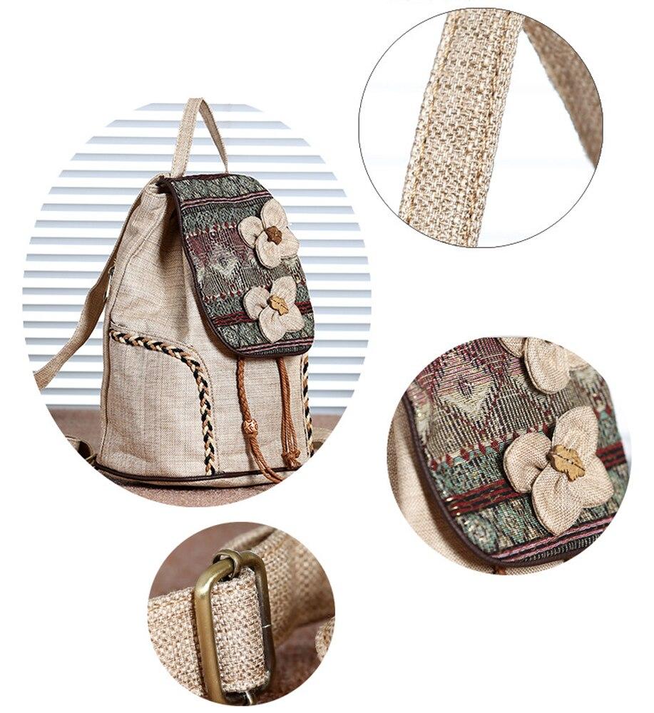 741dbba0d4588 2018 nouveau décontracté forêt arbres imprimé femelle école Bookbag pour  filles Style National perles à la main femmes sac à dos Anti-vol sacUSD  21.96/piece