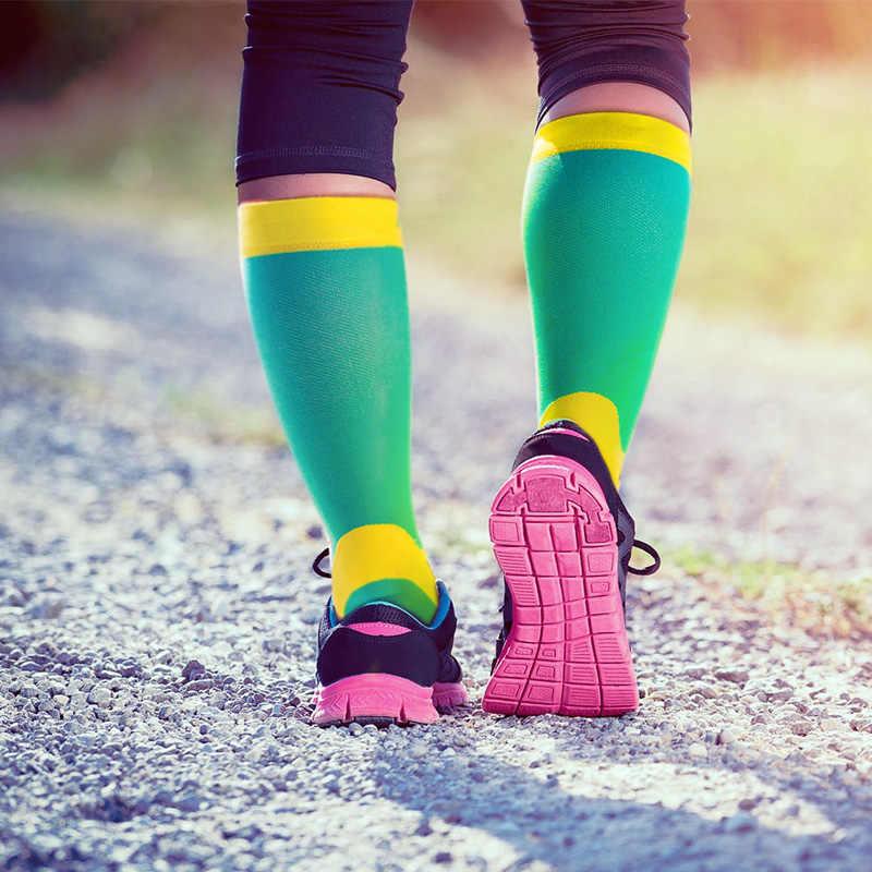 Aonijie E4069 Mannen Vrouwen Hoge Compressie Sokken Atletische Fit Voor Running Voetbal Fietsen Verpleegkundigen Shin Spalken Sport Oudtoor