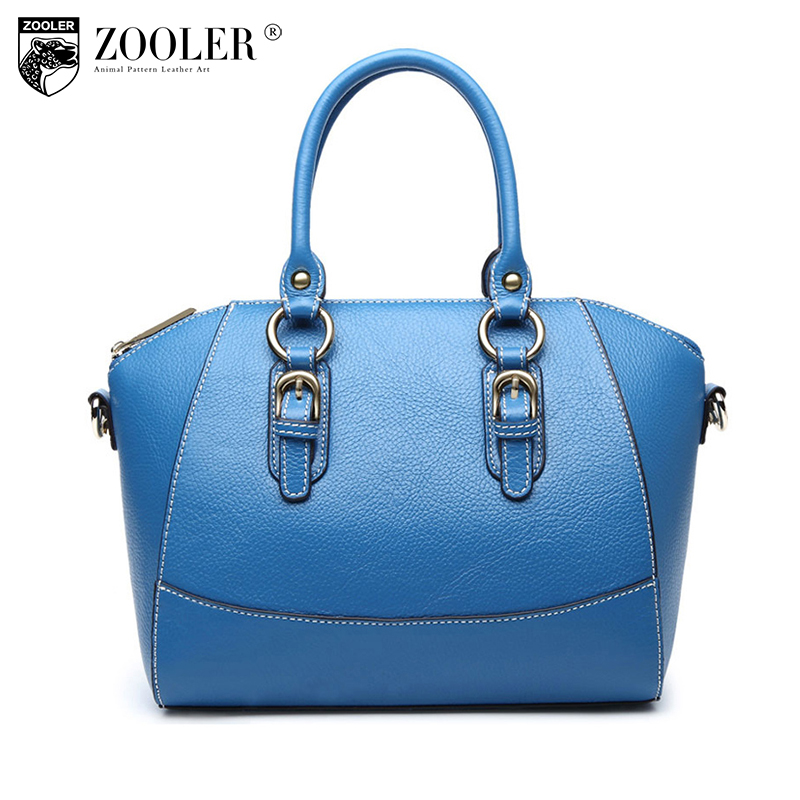 ZOOLER Genuine Leather Casual Tote Bags Women Bags Handbags Women Famous Brands High Quality Bolsa Feminina Large Shoulder Bags