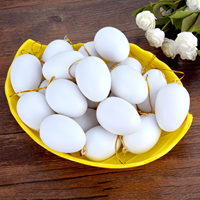 20PCS Easter Toy Eggs Simulation Artificial DIY Easter Eggs Easter Decor Eggs with Hanging String