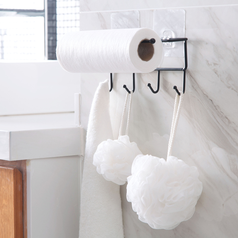 gallery of kitchen paper roll hanger cabinet towel holder tissue organizer rack for bathroom dish cloth storage hook toilet stickyin holders m21 kitchen